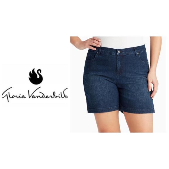 8130ec32059 Plus Size Gloria Vanderbilt Amanda Jean Shorts 22W